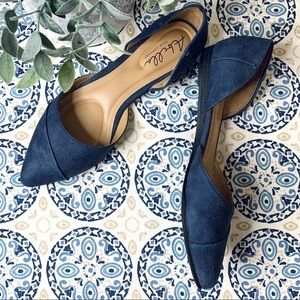 Abella True Comfort Quartet Flat Shoes in Navy